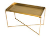 Gillmore Space Iris Rectangle Side Table Brass Tray