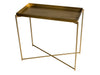 Gillmore Space Iris Small Console Table Brass Tray
