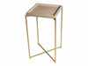 Gillmore Space Iris Square Plant Stand Weathered Oak Tray