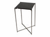 Gillmore Space Iris Square Plant Stand Black Marble Top