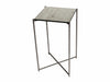 Gillmore Space Iris Square Plant Stand Antiqued Glass Top