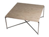 Gillmore Space Iris Square Coffee Table Weathered Oak Top