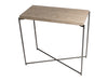 Gillmore Space Iris Small Console Table Weathered Oak Top