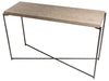 Gillmore Space Iris Large Console Table Weathered Oak