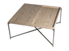 Gillmore Space Iris Rectangle Coffee Table Weathered Oak Top & Tray