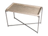 Gillmore Space Iris Rectangle Side Table Weathered Oak Tray