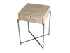 Gillmore Space Iris Square Side Table Weathered Oak Drawer