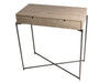 Gillmore Space Iris Small Console Table With Drawer In Weathered Oak Top
