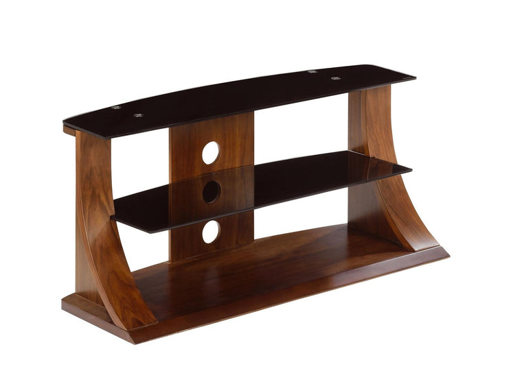 Jual Furnishings Florence 1100 Walnut Glass TV Stand