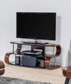 Jual Furnishings Florence 850 Walnut Curve TV Stand