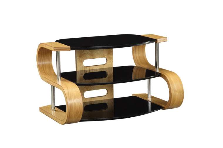 Jual Furnishings Florence 850 Oak Curve TV Stand