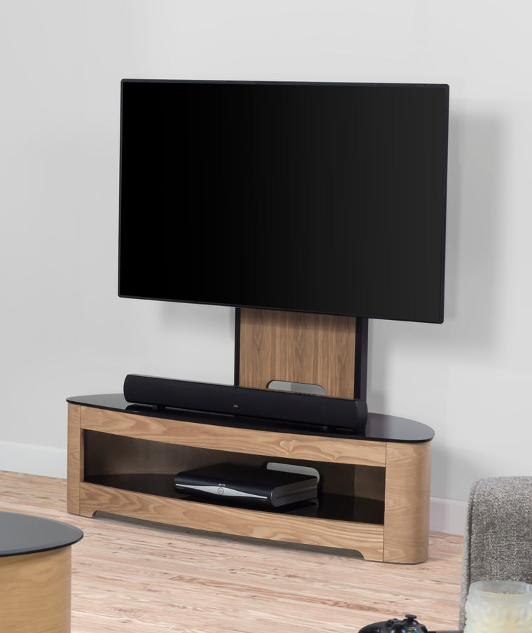 Jual Furnishings Florence Oak Cantilever TV Stand