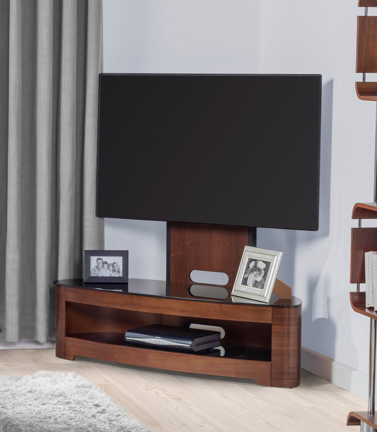 Jual Furnishings Florence Walnut Cantilever TV Stand