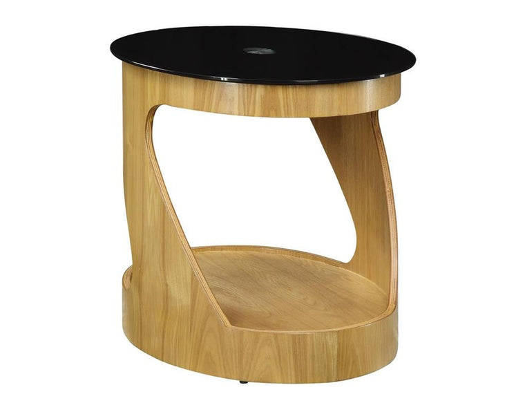 Jual Furnishings San Marino Oak Oval Lamp Table
