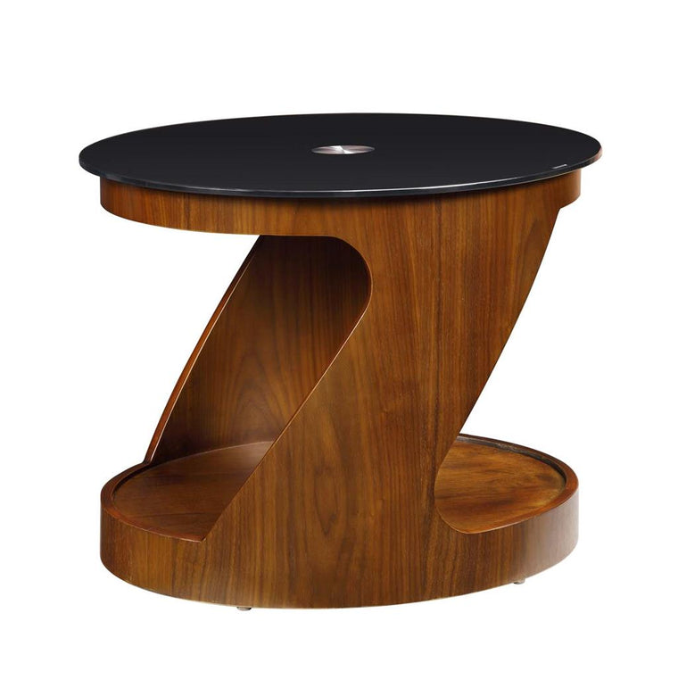 Jual Furnishings San Marino Walnut Oval Lamp Table