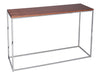 Gillmore Space Kensall Console Table Walnut Chrome