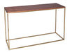 Gillmore Space Kensall Console Table Walnut Brass