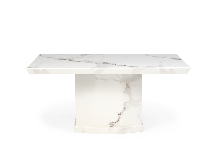 Mark Harris Como 160cm Ivory White Marble Dining Table