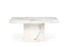 Como 200cm Ivory White Marble Dining Table