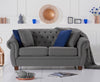 Liv Chesterfield Dark Grey Fabric 2 Seater Sofa
