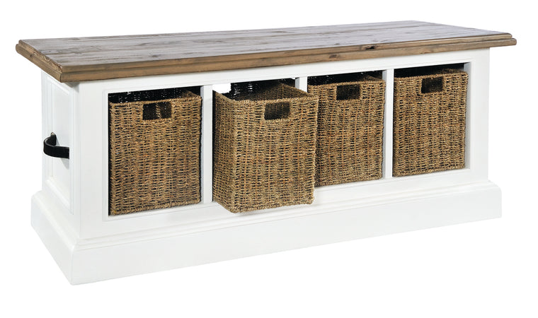 Rowico Lulworth Low Storage Basket Unit