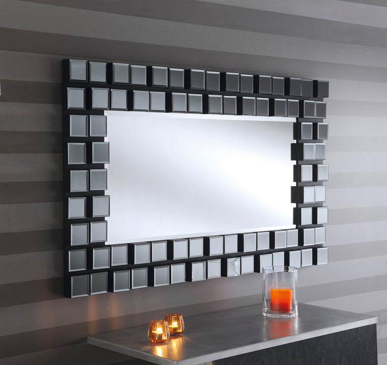 Yearn Art Deco Mona Black Mirror