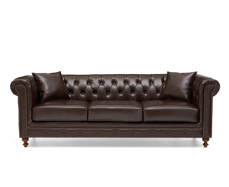 Mark Harris Montrose Brown Leather 3 Seater Sofa