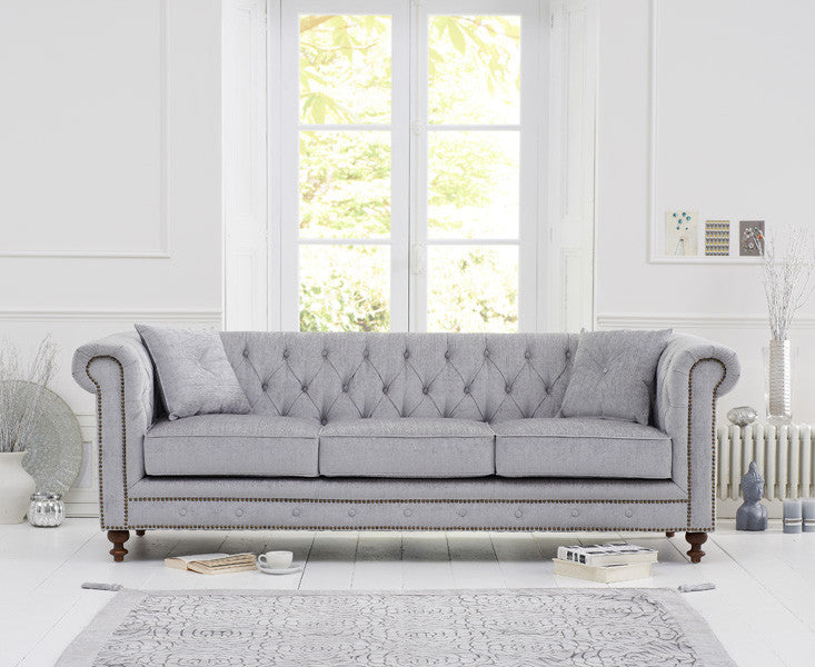 Mark Harris Montrose Grey Fabric 3 Seater Sofa