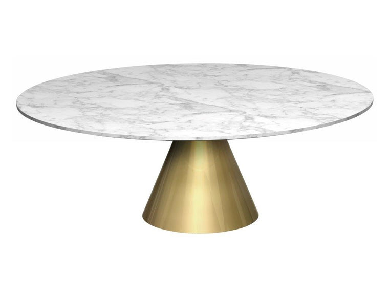 Gillmore Space Oscar Circular Coffee Table White Marble Large