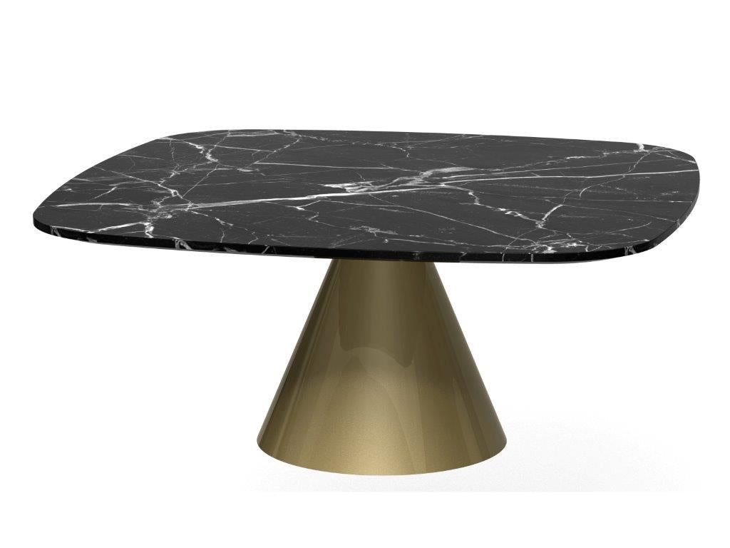 Gillmore Space Oscar Square Coffee Table Black Marble