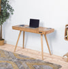 Jual Furnishings San Francisco Smart Desk Oak - Speaker - Charging