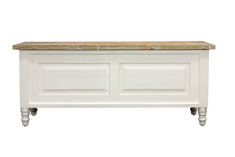 Bodiam Rochester Storage Bench or Trunk Antique White