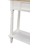 Bodiam Rochester 2 Drawer Console Table with Shelf Antique White