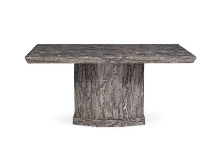 Mark Harris Como 160cm Grey Marble Dining Table