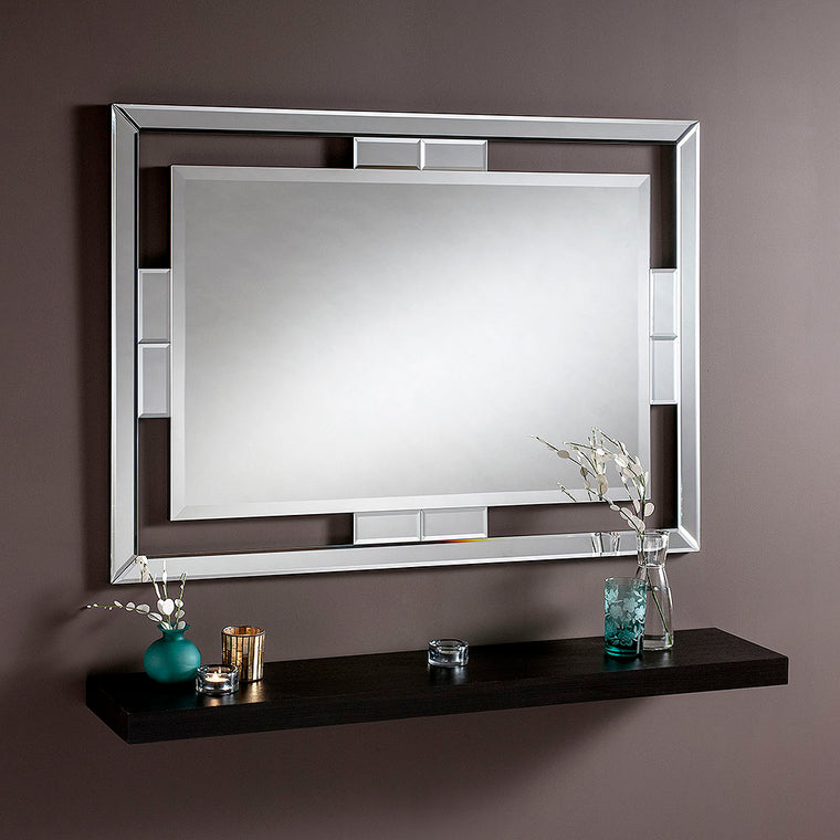 Yearn Art Deco Rio Black Mirror