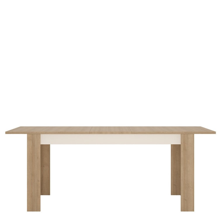 Axton Woodlawn Large Extending Dining Table 160/200 cm In Riviera Oak/White High Gloss