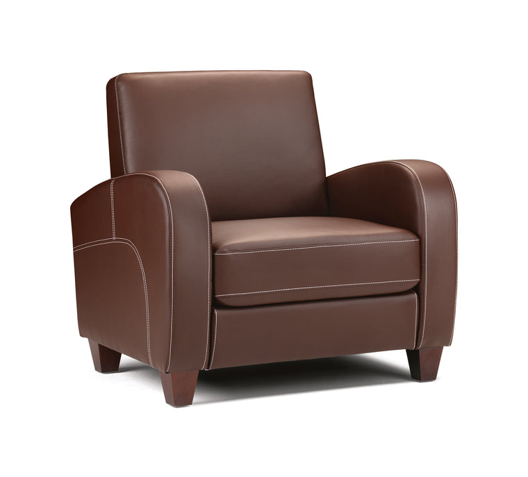 Julian Bowen Vivo Chair in Chestnut Faux Leather