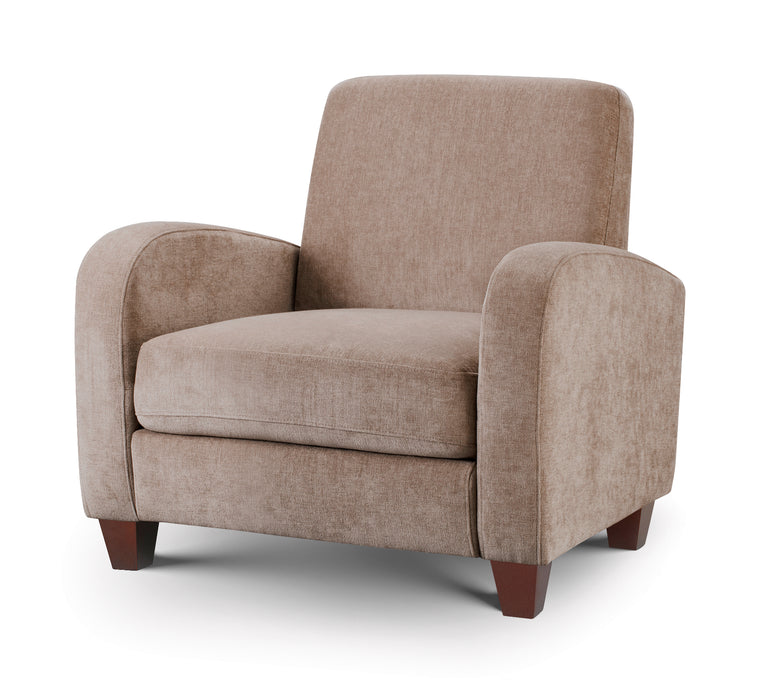 Julian Bowen Vivo Chair in Mink Chenille