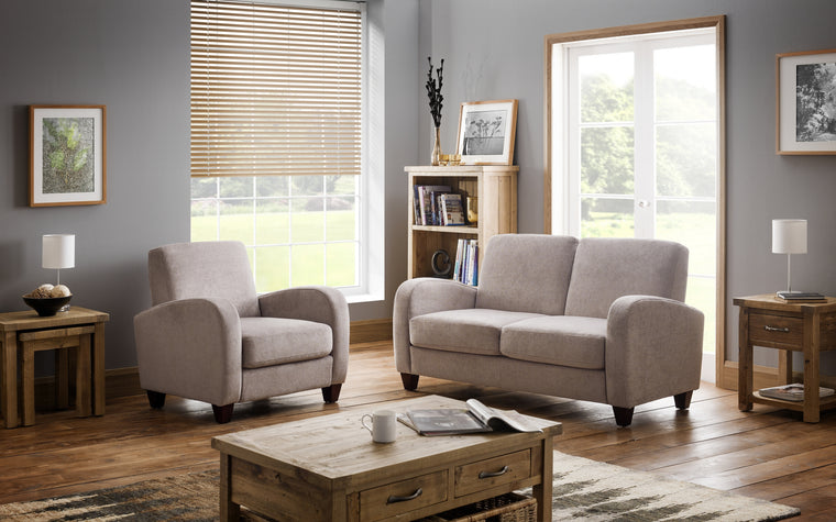 Julian Bowen Vivo 3 Seater Sofa in Mink Chenille