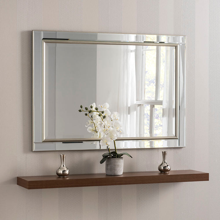 Yearn Rectangular YG110 VEN Silver Mirror