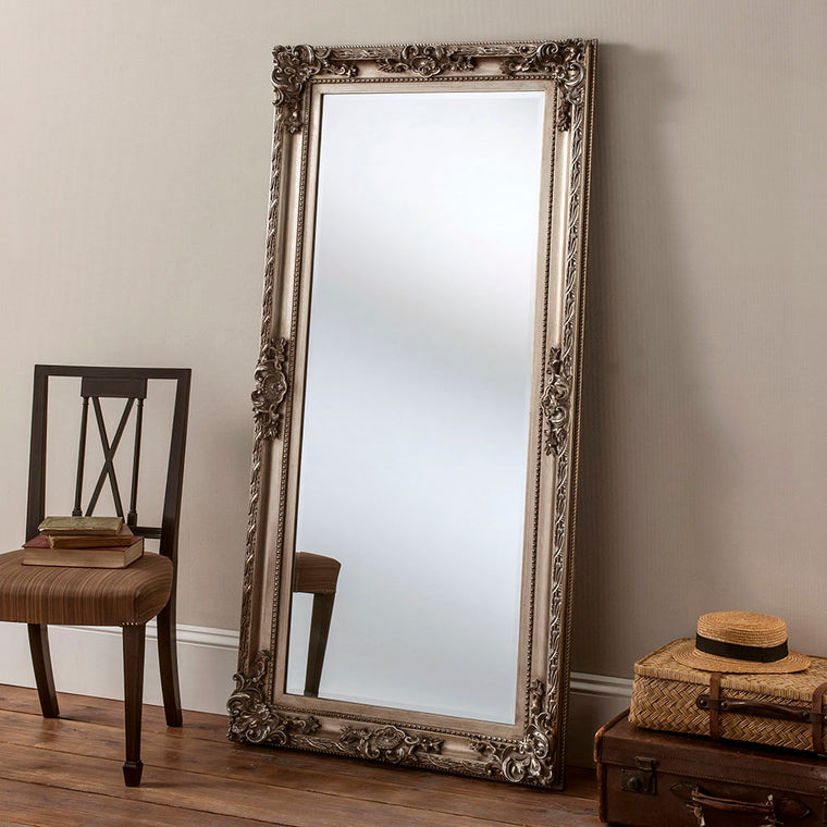Yearn Baroque / Swept YG137 Silver Leaf Mirror