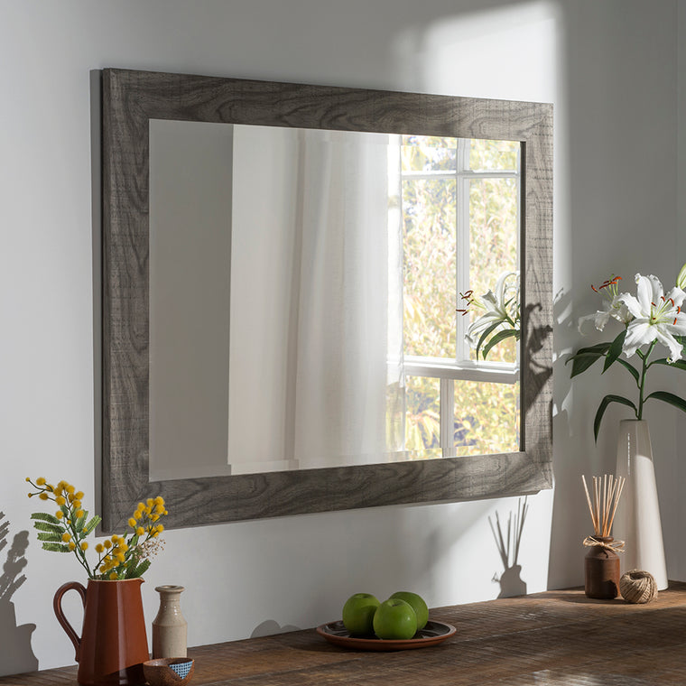 Yearn Rectangular YG214 Grey Wash Mirror