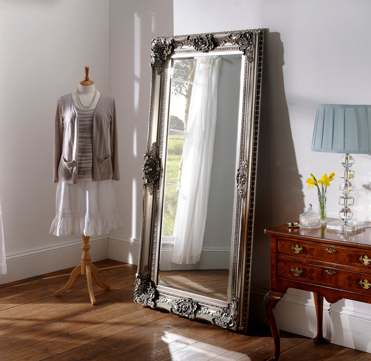Yearn Baroque / Swept YG256 Silver Leaf Mirror