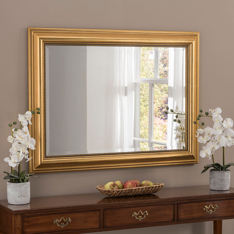 Yearn Rectangular YG312 Gold Mirror