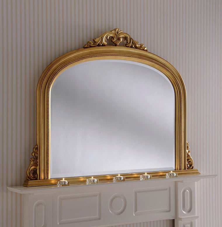 Yearn Over Mantles YG313 Gold Leaf Mirror