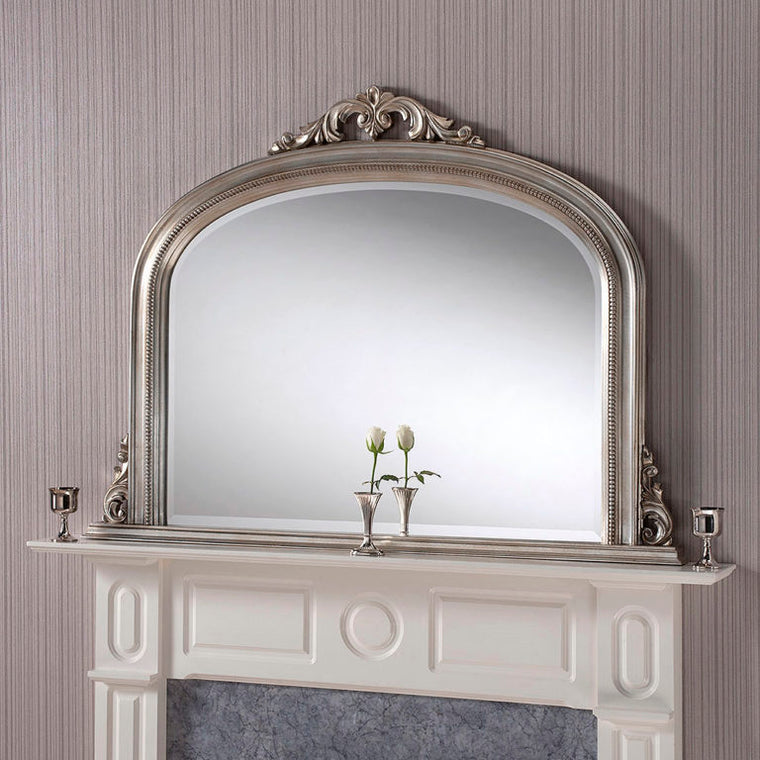 Yearn Over Mantles YG313 Silver Leaf Mirror