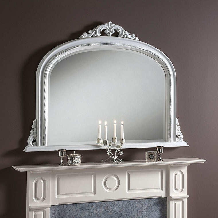 Yearn Over Mantles YG313 Matt White Mirror