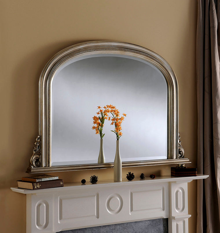 Yearn Over Mantles YG314 Silver Leaf Mirror