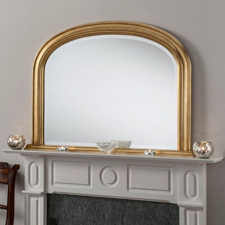 Yearn Over Mantles YG315 Gold Leaf Mirror