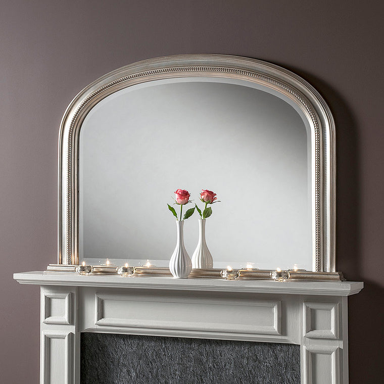 Yearn Over Mantles YG315 Silver Leaf Mirror